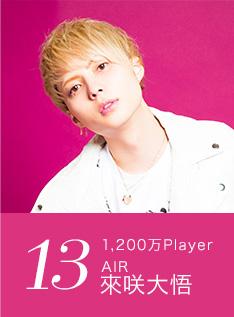 13位 1,200万Player AIR 來咲大悟