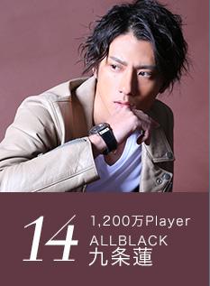 14位 1,200万Player ALLBLACK 九条蓮