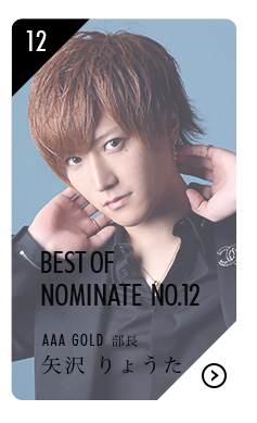 BEST OF NOMINATE No.12 AAA GOLD 部長 矢沢 りょうたはこちら