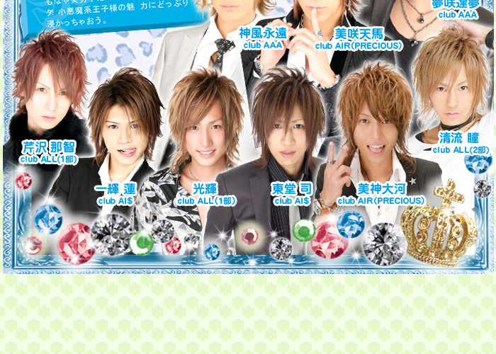歌舞伎町のホストクラブ、AIR-GROUPの王子様診断